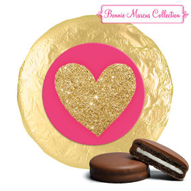 Bonnie Marcus Collection Valentine's Day Glitter Heart Milk Chocolate Covered Oreos (24 Pack)