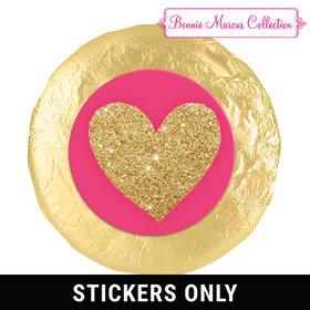 "Bonnie Marcus Collection Valentine's Day Glitter Heart 1.25"" Stickers (48 Stickers)"
