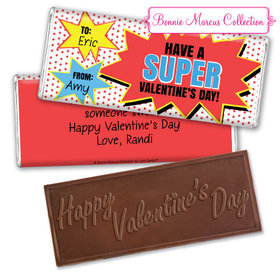 Personalized Valentine's Day Comic Embossed Chocolate Bar & Wrapper
