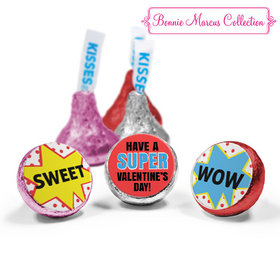Valentine's Day Comic Love Mix Hershey's Kisses Assembled (50 Pack)