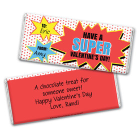 Personalized Valentine's Day Comic Chocolate Bar Wrapper