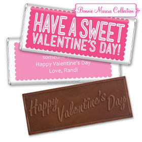 Personalized Valentine's Day Sweet Treat Embossed Chocolate Bar & Wrapper