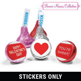 """Personalized Valentine's Day Sweet Treat 3/4"""" Stickers (108 Stickers)"""