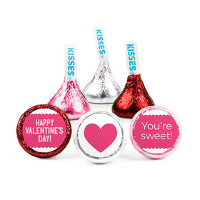 Personalized Bonnie Marcus Valentine's Day Sweet Treat Hershey's Kisses (50 pack)