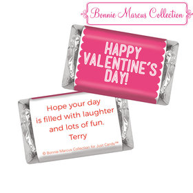 Bonnie Marcus Personalized Valentine's Day Pink Sweet Treat Hershey's Miniatures