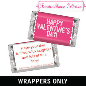 Bonnie Marcus Personalized Valentine's Day Pink Sweet Treat Mini Wrappers