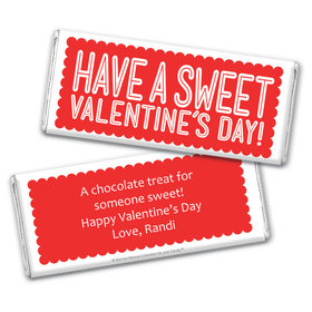 Bonnie Marcus Personalized Valentine's Day Sweet Treat Chocolate Bar & Wrapper