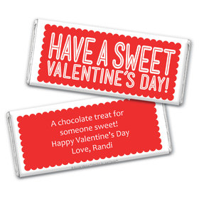 Personalized Valentine's Day Pink Sweet Treat Chocolate Bar Wrapper