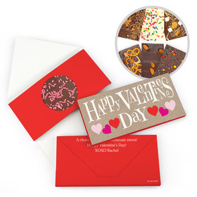 Personalized Cute Hearts Valentine's Day Gourmet Infused Belgian Chocolate Bars (3.5oz)