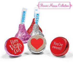 Personalized Valentine's Day Cute Hearts Love Mix Hershey's Kisses Assembled (50 Pack)