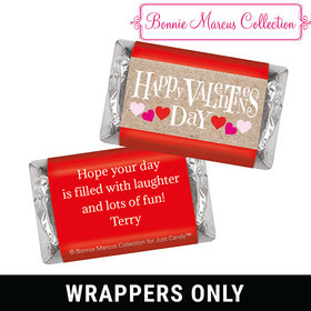 Bonnie Marcus Personalized Valentine's Day Cute Hearts Mini Wrappers
