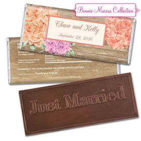 Bonnie Marcus Collection Personalized Embossed Chocolate Bar Personalized Candy Wedding Favors Beautiful Love