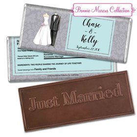 Forever TogetherEmbossed Just Married Bar Personalized Embossed Chocolate Bar Assembled