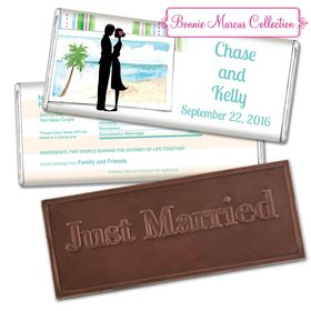 Personalized Bonnie Marcus Embossed Chocolate Bar Wedding Favors Tropical I Do Wedding