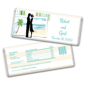 Tropical I Do Personalized Candy Bar - Wrapper Only
