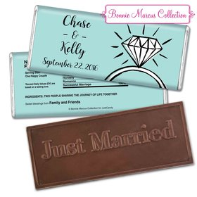 Personalized Bonnie Marcus Embossed Chocolate Bar Chocolate and Wrapper Last Fling Wedding Favors