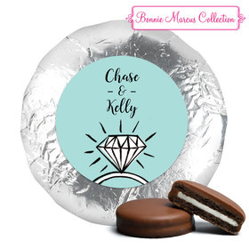 Bonnie Marcus Collection Wedding Last Fling Milk Chocolate Covered Oreo Cookies Foil Wrapped (24 Pack)
