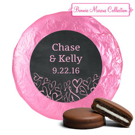 Bonnie Marcus Collection Wedding Sweetheart Swirl Milk Chocolate Covered Oreo Cookies Foil Wrapped