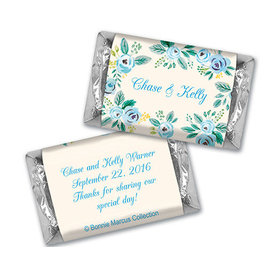 Here's Something Blue Wedding Personalized Miniature Wrappers
