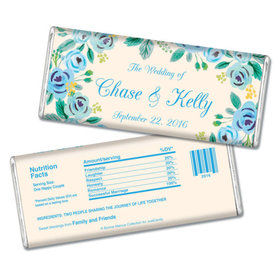 Personalized Bonnie Marcus Wedding Here's Something Blue Chocolate Bars