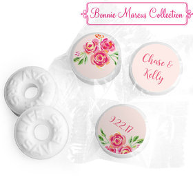 Personalized Pink Flowers Wedding LIFE SAVERS Mints Assembled