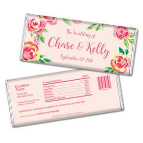 Bonnie Marcus Collection Personalized Chocolate Bar In the Pink Wedding Favors by Bonnie Marcus