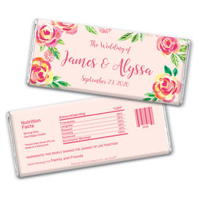 In the Pink Wedding Favorsby Bonnie Marcus Personalized Candy Bar - Wrapper Only
