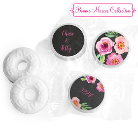 Floral Embrace Personalized Wedding LIFE SAVERS Mints Assembled
