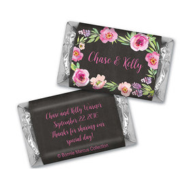 Floral Embrace Wedding Personalized Miniature Wrappers