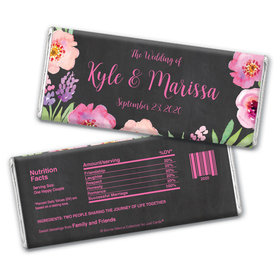 Personalized Floral Embrace Wedding Favors - Wrapper Only