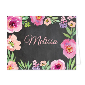 Bonnie Marcus Collection Watercolor Floral Chalboard Birthday Thank You