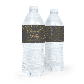 Bonnie Marcus Collection Wedding Confetti Water Bottle Labels (5 Labels)