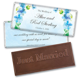 Personalized Bonnie Marcus Wedding Flower Arch Embossed Chocolate Bar & Wrapper