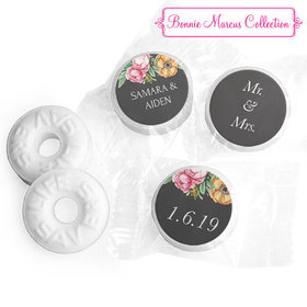 Personalized Bonnie Marcus Life Savers Mints - Wedding Flowers in Chalk