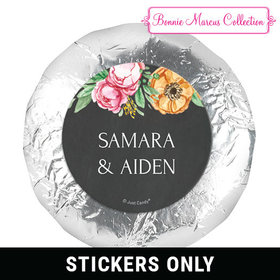 "Personalized Bonnie Marcus 1.25"" Stickers - Wedding Flowers in Chalk (48 Stickers)"