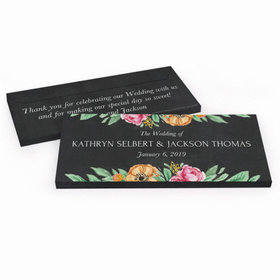 Deluxe Personalized Flowers Wedding Hershey's Chocolate Bar in Gift Box