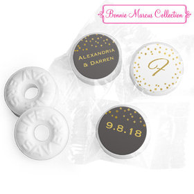 Personalized Bonnie Marcus Life Savers Mints - Wedding Divine Gold