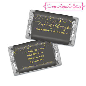Personalized Bonnie Marcus Hershey's Miniatures - Wedding Divine Gold