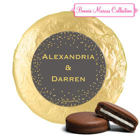 Personalized Bonnie Marcus Milk Chocolate Covered Oreos - Wedding Divine Gold (24 Pack)