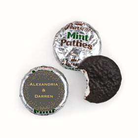 Personalized Bonnie Marcus Pearson's Mint Patties - Wedding Divine Gold