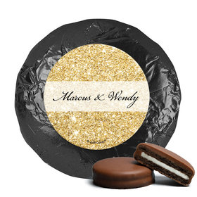 Personalized Bonnie Marcus Milk Chocolate Covered Oreos - Wedding All That Glitters (24 Pack)