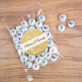 Personalized Wedding Candy Bag with JC Chocolate Minis - All that Glitters