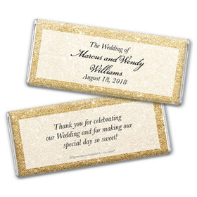 Personalized Bonnie Marcus Chocolate Bar & Wrapper - Wedding All That Glitters