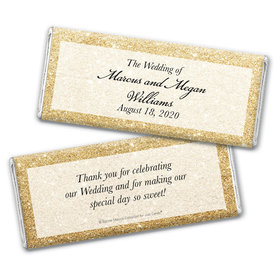 Personalized Bonnie Marcus Chocolate Bar Wrappers Only - Wedding All That Glitters