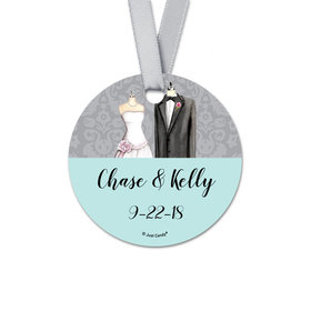 Personalized Bonnie Marcus Collection Together Forever Wedding Round Favor Gift Tags (20 Pack)