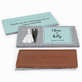 Deluxe Personalized Forever Together Wedding Chocolate Bar in Gift Box