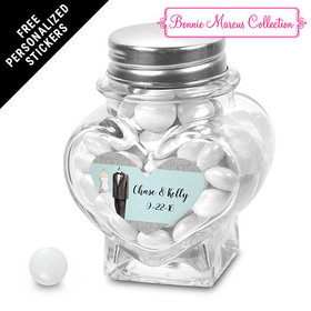 Bonnie Marcus Collection Personalized Heart Jar Together Forever Custom Wedding Favor (12 Pack)