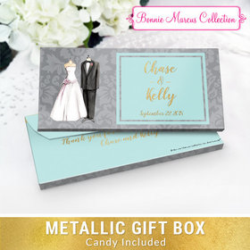Deluxe Personalized Forever Together Wedding Chocolate Bar in Metallic Gift Box