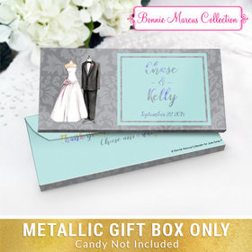 Deluxe Personalized Forever Together Wedding Metallic Gift Box