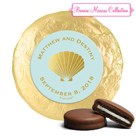 Personalized Bonnie Marcus Milk Chocolate Covered Oreos - Wedding Siren's Shell (24 Pack)